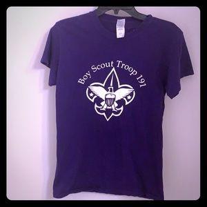 🔴10/$25 Boy Scout Purple Tee S